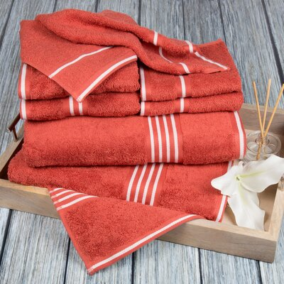 8 Piece Towel Set Color: Brick