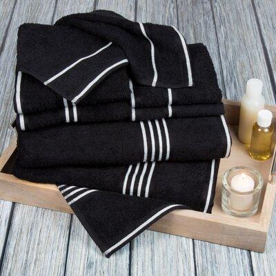8 Piece Towel Set Color: Black