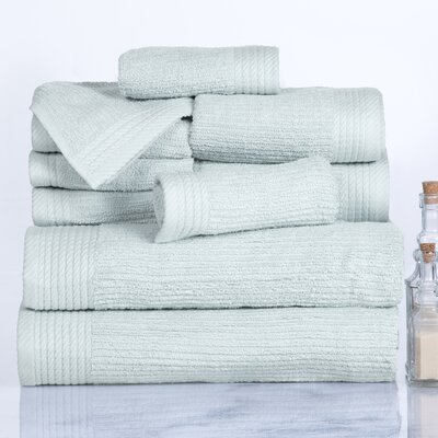 Ribbed 10 Piece Towel Set Color: Seafoam