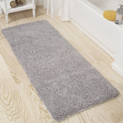 Memory Foam Shag Bath Rug Color: Gray