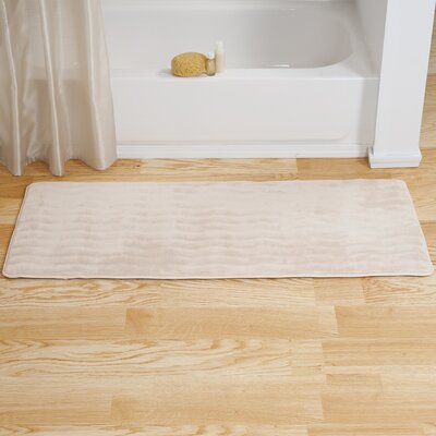 Memory Foam Long Bath Rug Color: Ivory
