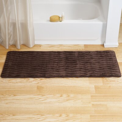 Memory Foam Long Bath Rug Color: Chocolate