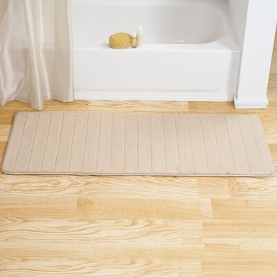Memory Foam Long Bath Rug Color: Beige