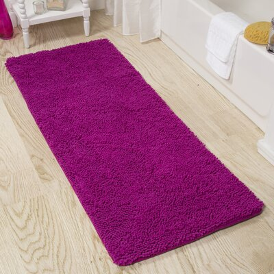 Shag Bath Rug Color: Pink
