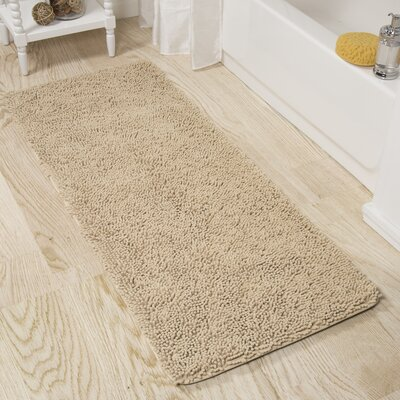 Shag Bath Rug Color: Ivory