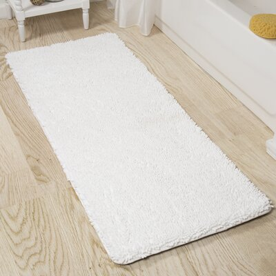 Shag Bath Rug Color: White