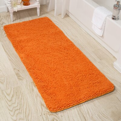 Shag Bath Rug Color: Orange