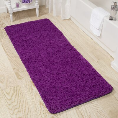 Shag Bath Rug Color: Purple