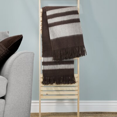Australian Wool Throw Color: Brown