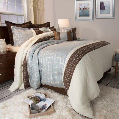 Comforter Set Size: King, Color: Silver