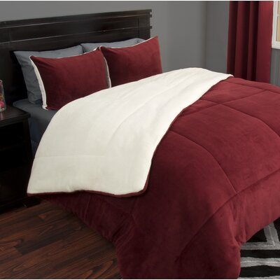 Comforter Set Color: Burgundy, Size: Twin