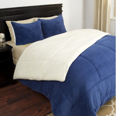 Comforter Set Size: Full / Queen, Color: Navy