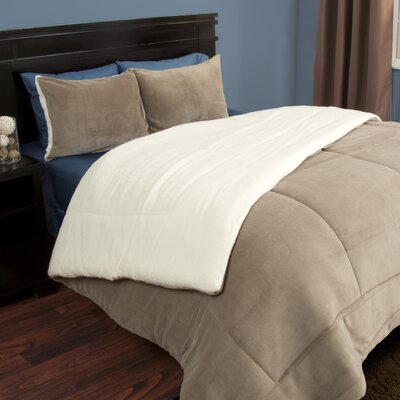 Comforter Set Color: Taupe, Size: Twin