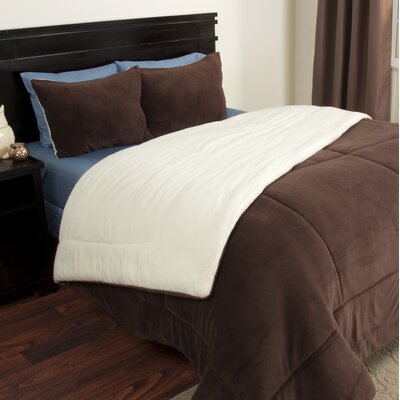 Comforter Set Color: Chocolate, Size: Twin