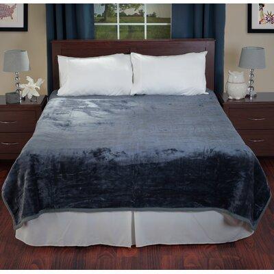 Plush Mink Blanket Color: Gray
