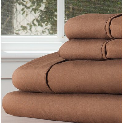 Sheet Set Size: Twin, Color: Chocolate
