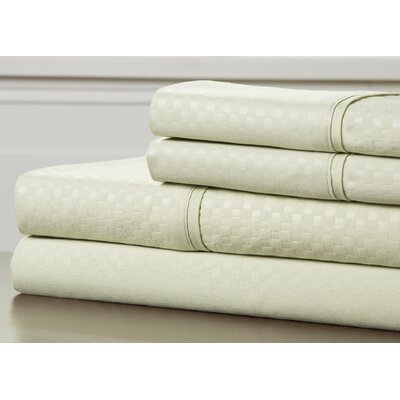 Embossed Sheet Set Color: Sage, Size: Full