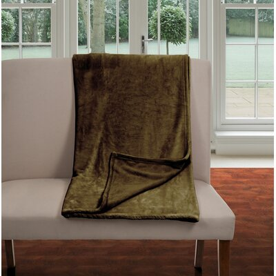 Super Soft Flannel Blanket Size: Full / Queen, Color: Brown