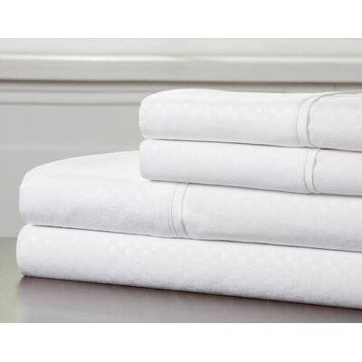 Embossed Sheet Set Color: White, Size: Queen