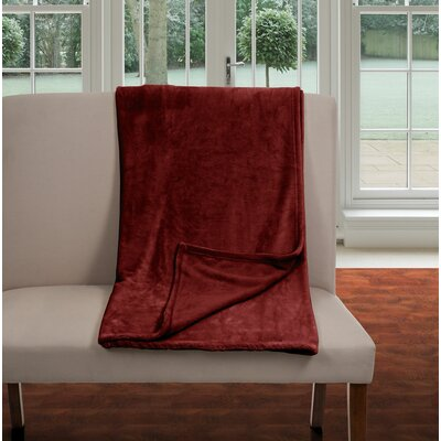 Super Soft Flannel Blanket Color: Burgundy, Size: King