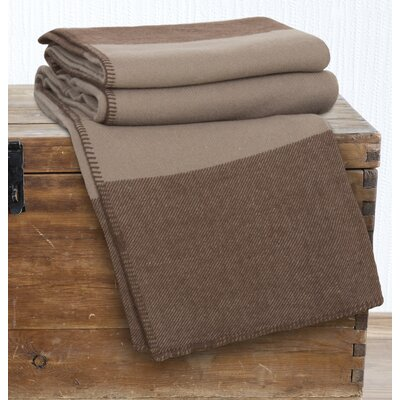100% Australian Wool Blanket Size: Full / Queen, Color: Brown