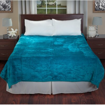 Plush Mink Blanket Color: Aqua