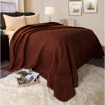 Bed Quilt Size: Full / Queen, Color: Chocolate