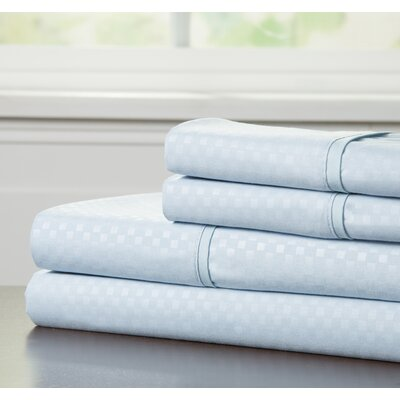 Embossed Sheet Set Color: Blue, Size: Full