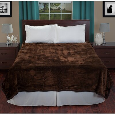 Plush Mink Blanket Color: Coffee
