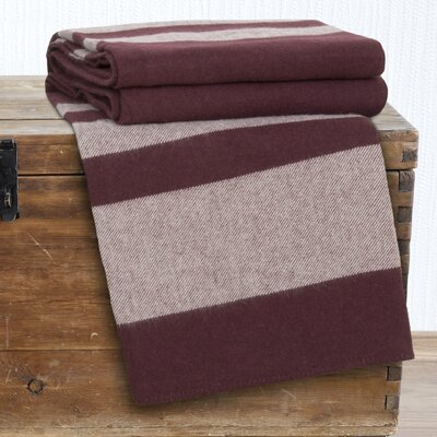 Australian Wool Blanket Color: Burgundy, Size: King