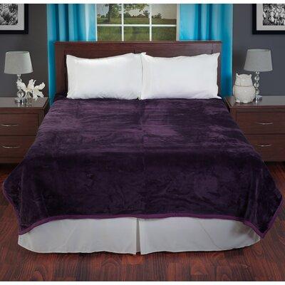 Plush Mink Blanket Color: Purple