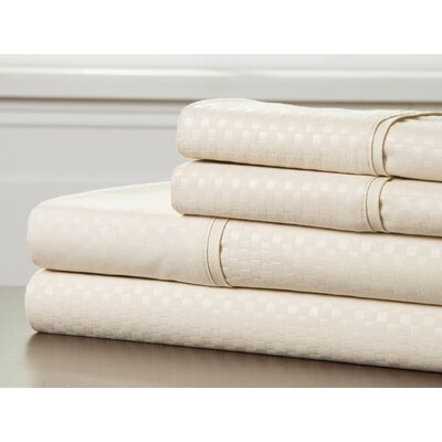 Embossed Sheet Set Color: Champagne, Size: King