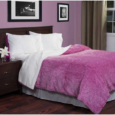 Blanket Color: Pink, Size: Twin
