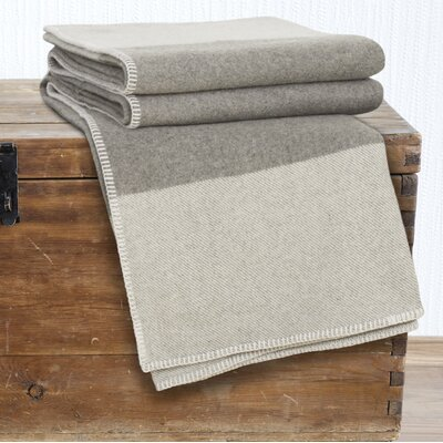 100% Australian Wool Blanket Size: Full / Queen, Color: Platinum