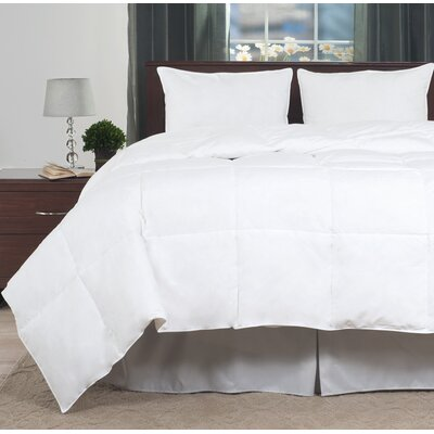 100% Cotton Feather All Season Down Comforter Size: King