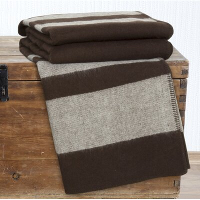 Australian Wool Blanket Color: Brown, Size: Twin