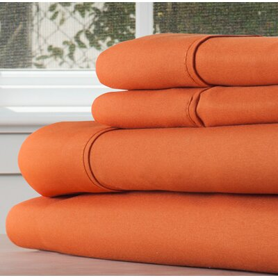 Sheet Set Size: King, Color: Rust