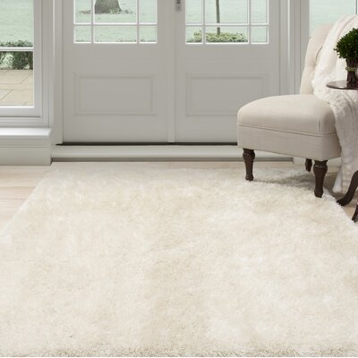 Shag Hand-Woven Beige Area Rug Rug Size: Rectangle 33 x 5
