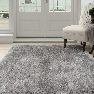 Shag Hand-Woven Gray Area Rug Rug Size: Rectangle 33 x 5