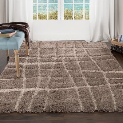 Sculptured Brown Area Rug Rug Size: 8 x 10