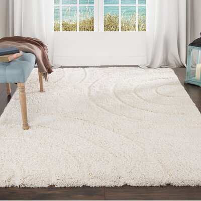 Sculptured Beige Area Rug Rug Size: 4 x 6