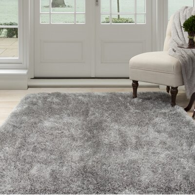 Shag Hand-Woven Gray Area Rug Rug Size: Rectangle 8 x 10