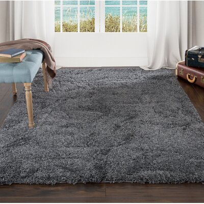 Sculptured Gray Area Rug Rug Size: 4 x 6