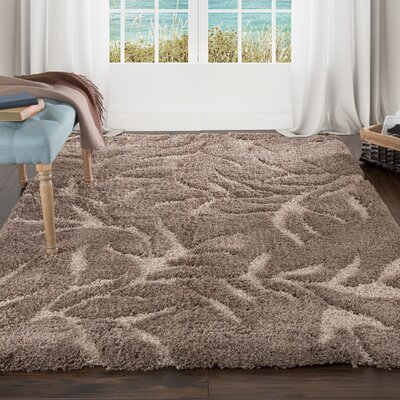 Sculptured Brown Area Rug Rug Size: 4 x 6