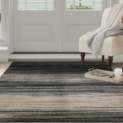 Blue/Beige Area Rug Rug Size: Rectangle 53 x 77