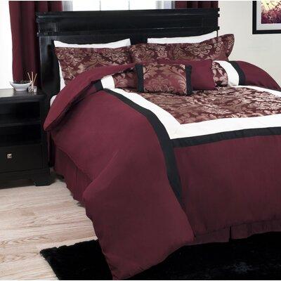 Oriental Floral Comforter Set Size: King