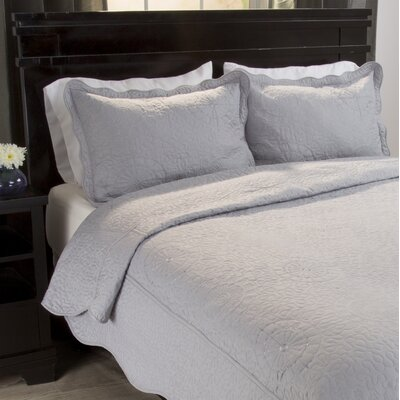 Savannah Quilt Set Color: Platinum, Size: Twin