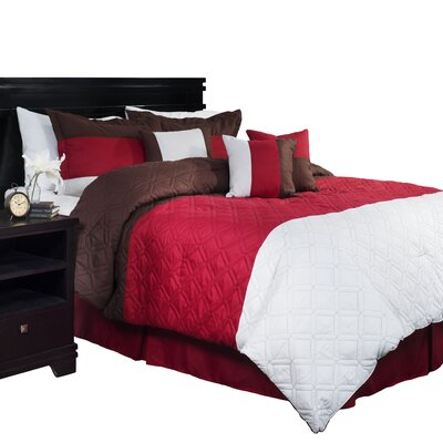 Autumn Stripe Comforter Set Size: King