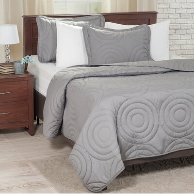 Quilt Set Color: Silver, Size: King