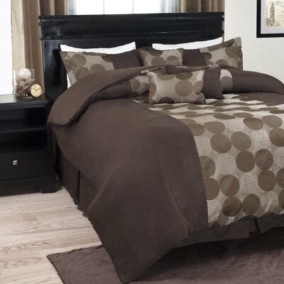 Earthy Dots Comforter Set Size: Queen